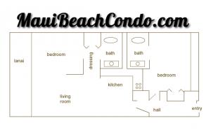 MauiBeachCondo.com - Floorplan Unit #411